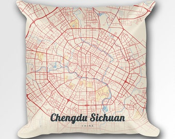 Chengdu map art Etsy