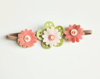 Felt flower hair band