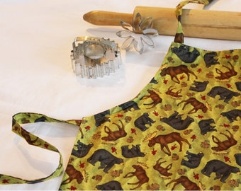 Bear and Moose Child Apron