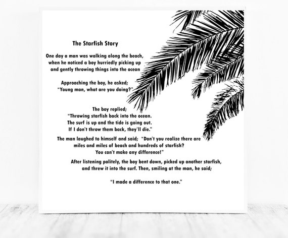 The Stafish Story Printable by Loren Eiseley