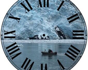 Paper Time Dial - Roman Font with Glacier
