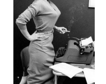 "FUNNY PRINT;  retro, vintage photography - ""Autocorrect""; funny; amusing; office print"