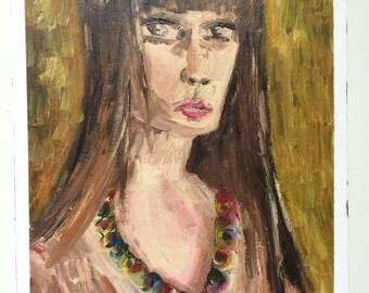 Lynn -  Original Acrylic Portrait  9x12