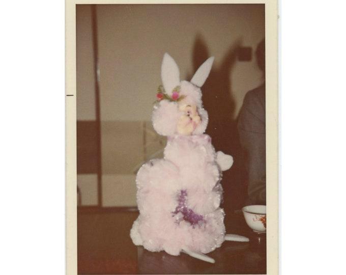 Scary Bunny: Vintage Snapshot Photo, 1973 [85675]