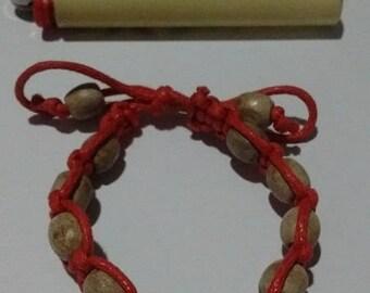 Red Hemp Cord Bracelet