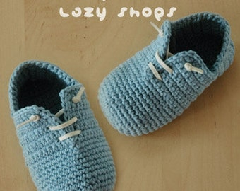 Crochet Pattern - Slip-On Baby Lazy Booties Preemie Sneaker Newborn Socks Slip On Shoes Home Slippers Crochet Pattern (SLS01-B-PAT)
