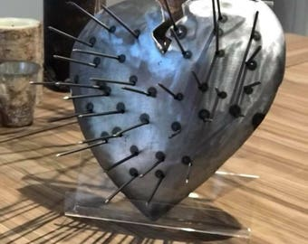Handmade Iron Maiden Heart Sculpure