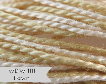 Weeks Dye Works Pearl Cotton | Hand Over-Dyed Perle Cotton Floss - Size 5 Fawn for Hand Embroidery, Applique, Hand Quilting