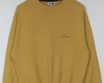 Rare!! U.P Renoma Uniforme Prestige Sweatshirt Spell Out Embroided Pullover Crewneck Long Sleeve Medium Size