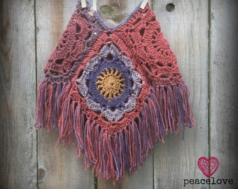 Toddler Mandala Boho Hippie Poncho~Ready To Ship~FREE SHIPPING