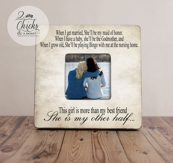 Best Friend Picture Frame Funny Best Friend Picture Frame