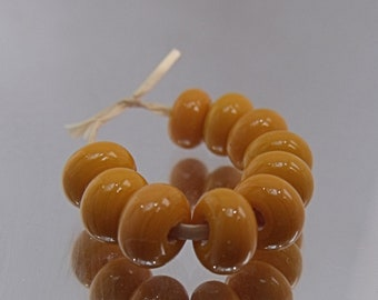 Peach Sands, Lampwork Spacer Beads, SRA, UK