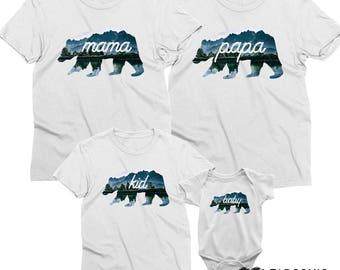 Bear Family Shirts, Family Bear Shirts, Papa Bear Shirt, Mama Bear shirts, Mama bear papa bear, Bear family, Family Bear Shirts