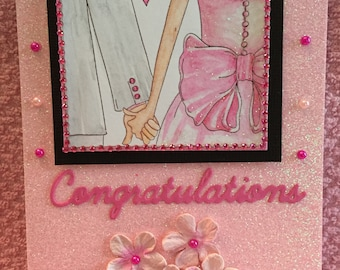 Congrats in pink