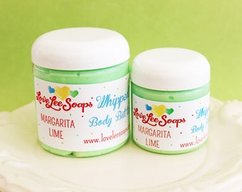 Whipped Body Butter Margarita Lime - Body Lotion, Bath Whip, Whipped Lotion, Skin Care, Gift For Her, Gift For Him, Body Frosting, Vegan