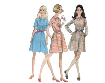 60s Shirtdress pattern Summer Dress pattern vintage 34-25.5-36 Day Dress pattern McCalls 9619
