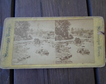 Vintage Lincoln Park Chicago 1900s Stereoscopic Views Paper History Reuse Recycle Photo Repurpose