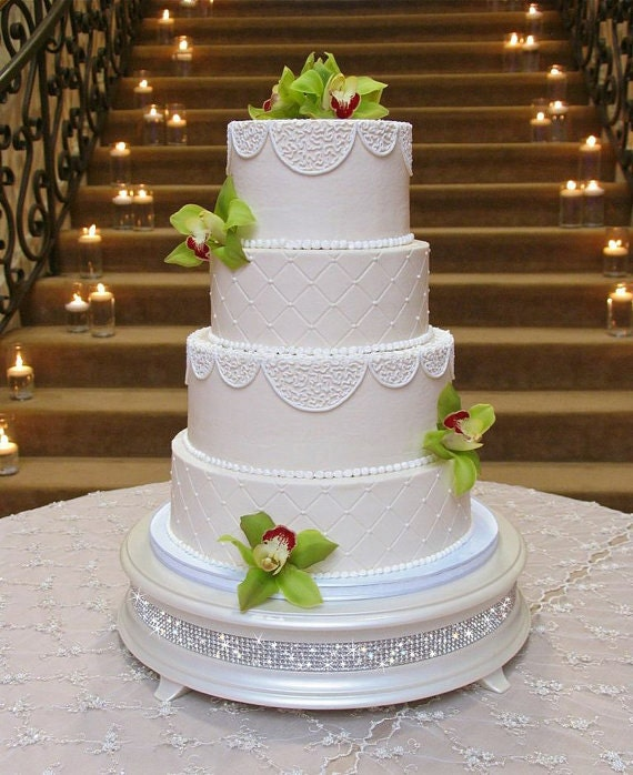 bling wedding cakes uk 16 inch ivory pearl bling wedding cake stand 11936