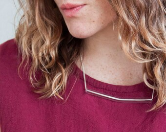 Minimal Glass Tube Necklace No. 5