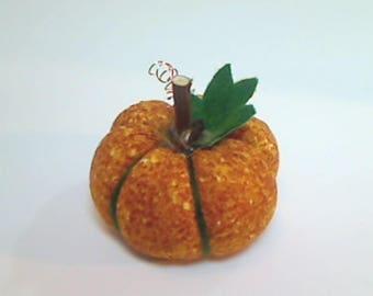 Size 1 | Rusty Gold Pumpkin | Halloween | Thanksgiving Decor | Fall Decor |Handmade Gift | Fabric Pumpkin | Pincushion | Table Decor |  #6