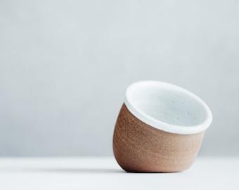 Salt Cellar - White Ceramic Salt Pig