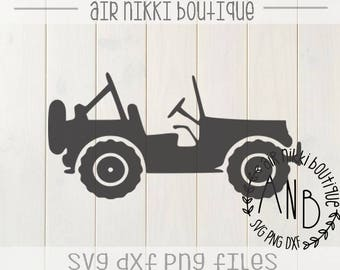 Jeep, 4x4, SVG, PNG, DXF files, instant download