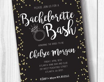 Bachelorette Party Invitation - Bachelorette Bash - Bridal Party