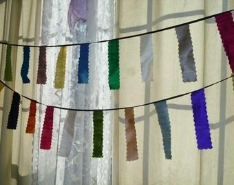 Silk Dupioni Pennant/Banner/Garland