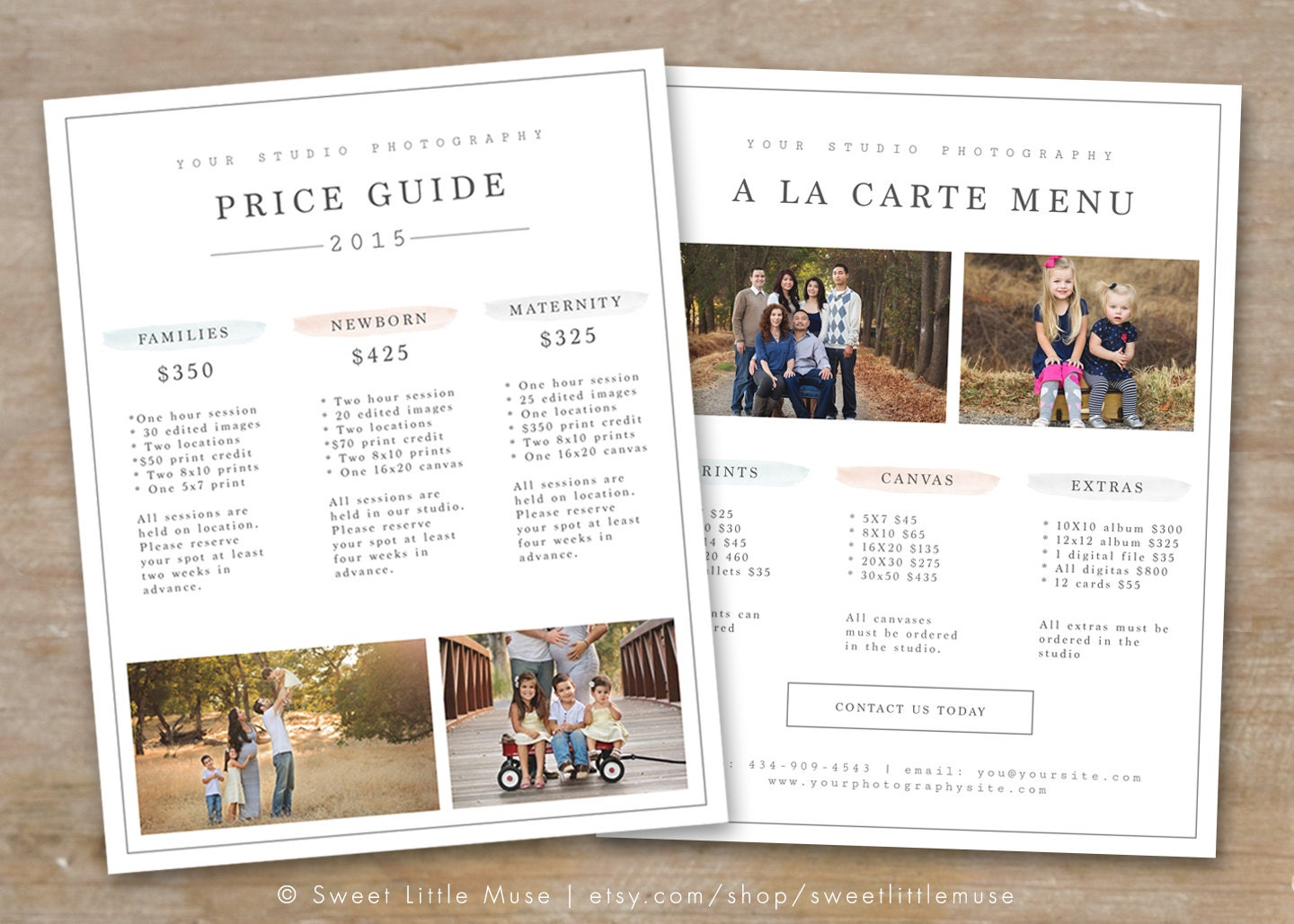 Photography pricing guide template price list photoshop photography pricing guide template photography price list flashek Image collections