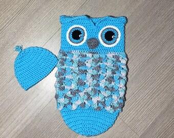 Crochet Pattern Owl Cocoon/ Crochet Owl Cocoon/ Owl Cocoon Crochet Pattern/ Owl Sleep Sack Crochet Pattern/ Crochet Pattern Owl Sleep Sack