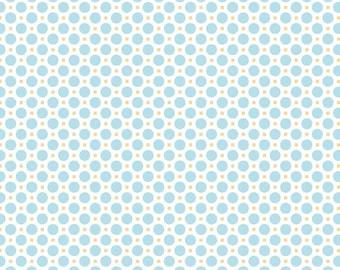 Sew Cherry 2 - Per Yd - Riley Blake - by Lori Holt - Aqua circles on white - blender