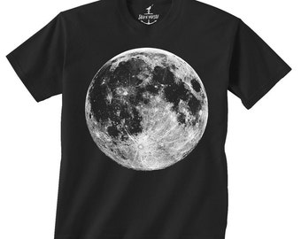 Full Moon -- Kids T shirt -- toddler youth boys birthday party ideas space theme Size 2t, 3t, 4t, youth xs, yth sm, yth med, skip n whistle