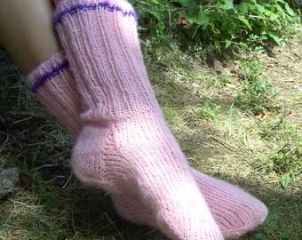 Unique hand-knitted socks (UK 3.5-4, EU 36-37)