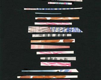 Oktober Serie Nr. 2 - Original-Aquarell Collage von Lindsay Gardner