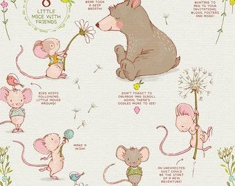 Spring Animal clipart set, bear clip art, cute mouse, girl nursery wall art, baby announcements, spring floral wreath clipart, nursery decor