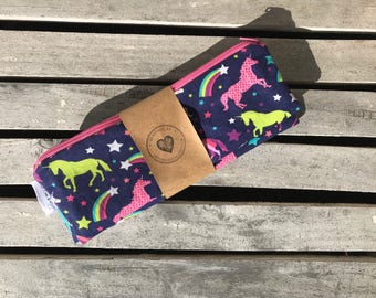 "10""x13"" Travel Wet Bag -Unicorns -Optional Strap Available"