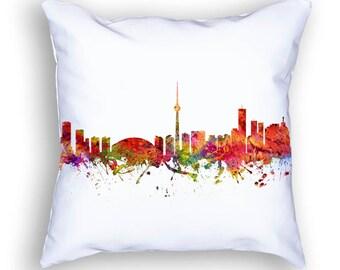 Toronto Pillow, Toronto Canada, Toronto Skyline, Toronto Cityscape, 18x18, Cushion Home Decor, Gift Idea, Pillow Case 08