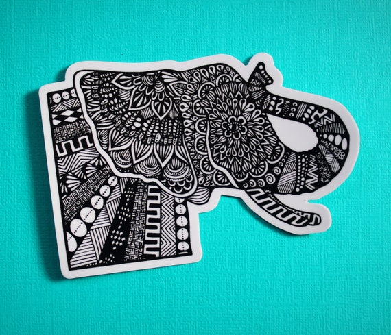 Side Elephant Sticker