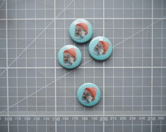 steve zissou / bill murray / life aquatic pin button badge