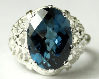 London Blue Topaz, 925 Sterling Silver Ring, SR260