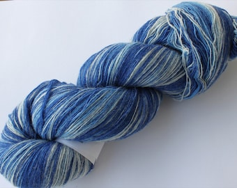 KAUNI Estonian Artistic Wool Yarn Blue  8/1, Laceweight Art Wool Yarn for Knitting, Crochet