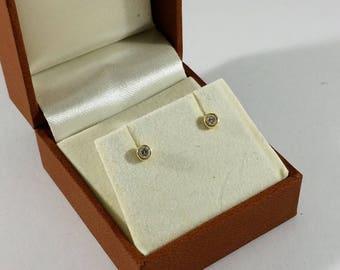 Earring Earrings Gold 585 Diamonds Stainless OR136
