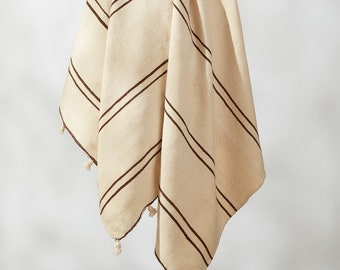 Nabil Vintage Wool Pom Pom Blanket