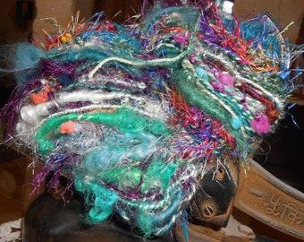 "Handspun yarn: mohair, Merino, silk ""Sultana""."