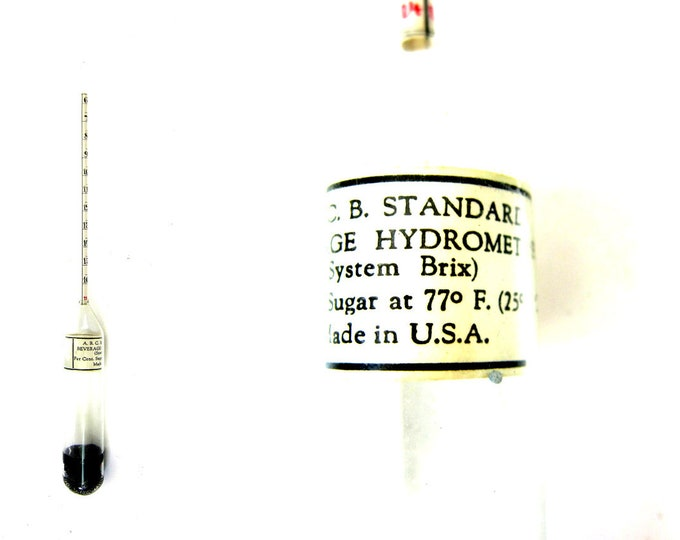 ABCB American Bottlers Standard Carbonated Beverage Hydrometer Antique display Steampunk Retro Book Shelf Decor Photography Photo Prop