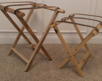 Reclaimed Wood Luggage Stand