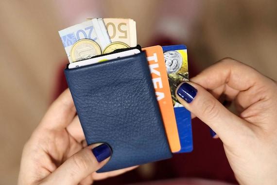 Wallet, Leather Wallet, Personalized Leather Wallet, Front Pocket Slim Design, Minimalist Card Wallet, Mens Leather Wallets, RFID Wallet
