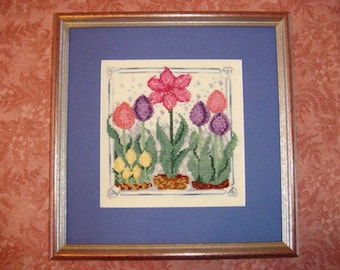 Amaryllis Tulip Crocus Flowers Cross Stitch Pattern