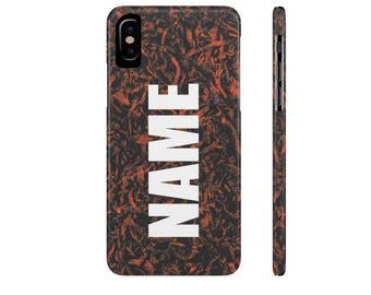 Personalized Phone Case, Orange Phone Case, iPhone X, iPhone 8, iPhone 7, iPhone 6, Galaxy S8, Galaxy S9, Galaxy S7, Galaxy S6