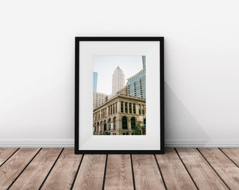 Chicago / Buildings / Film / Photography / Instant Download / digital download / city / print city / photograph / instant / gift architect